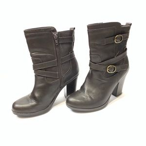 Style & Co dark brown booties